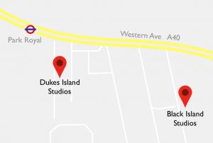 Island Studios map