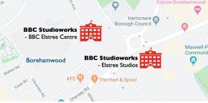 BBC Studioworks map
